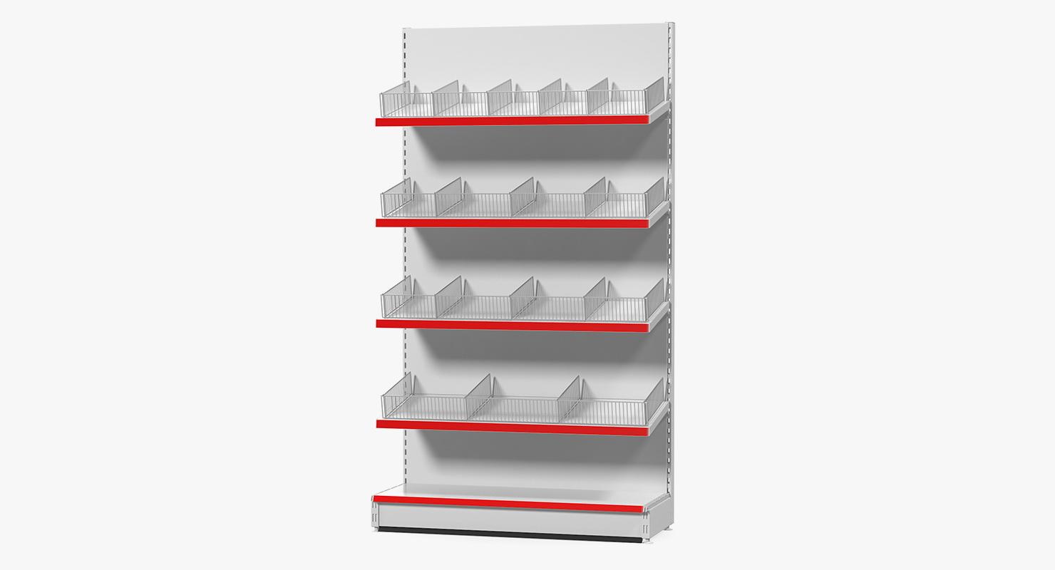 Gondola Store Shelving 3d Model