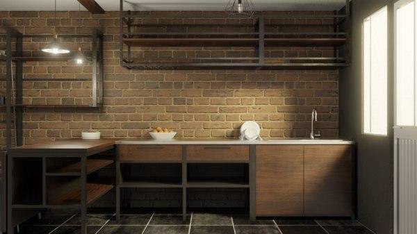 set industrial kitchen sink 3d model turbosquid 1595773
