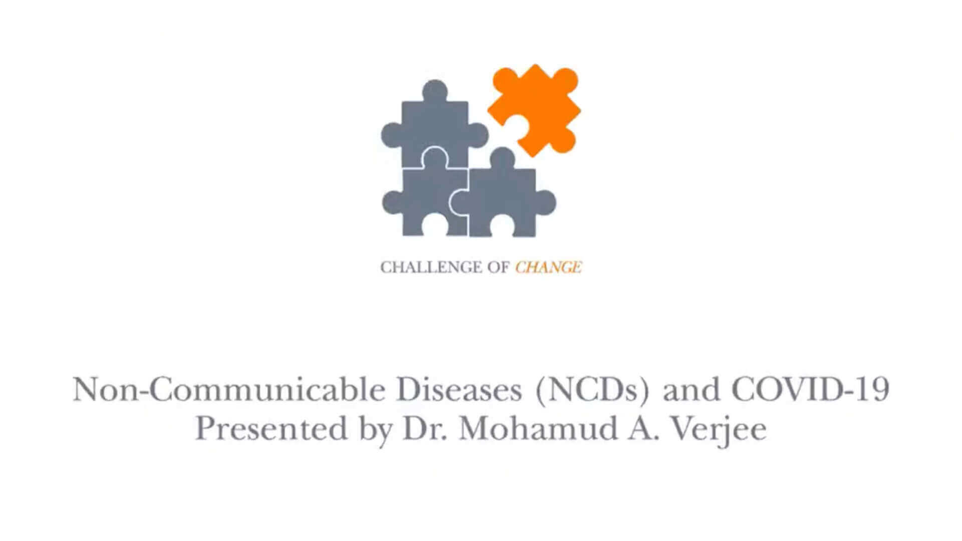Non Communicable Diseases And Covid 19 The Ismaili Tv