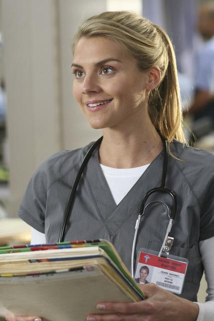 Eliza Coupe as Dr. Mahoney on Scrubs