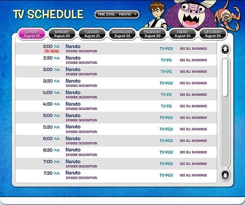 cartoon network channel guide fandifavicom