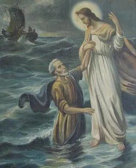 Image result for most famous painting of jesus walking on the sea of galilee