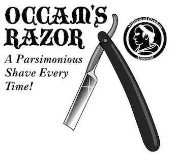 Image result for occam's straight razor