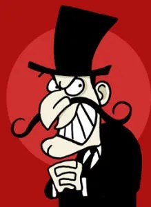 Image result for snidely whiplash nasty minister pictures