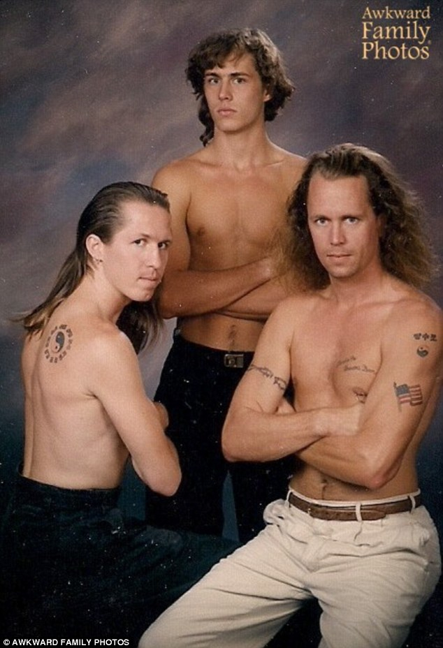 Rule number one of family photos: Every tattoo must be clearly visible