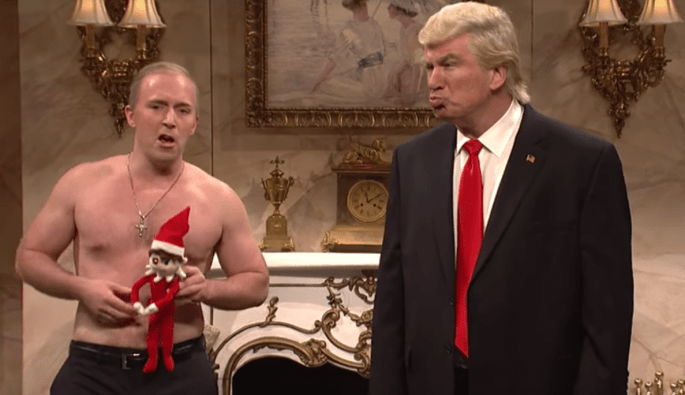 Image result for Putin Trump Saturday Night Live elf on shelf