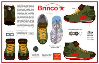 Shoes designed to help Mexican immigrants  cross the border