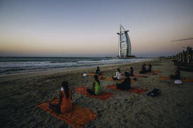 Sunset Yoga in Dubai