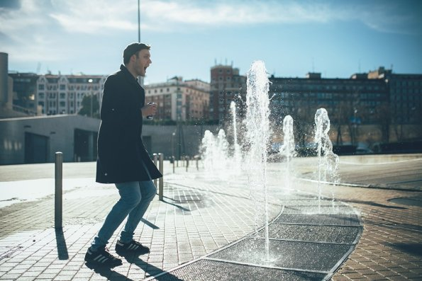 Bilbao Springbrunnen vor dem Guggenheim Museum