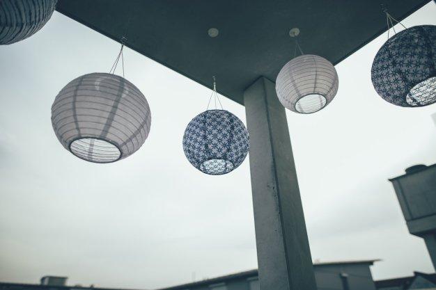 Balkon Lampions