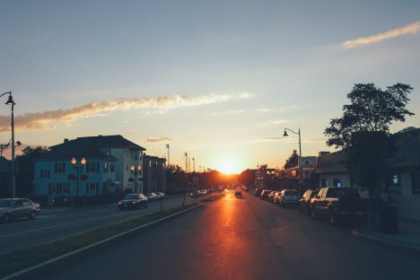 Boston Sonnenuntergang