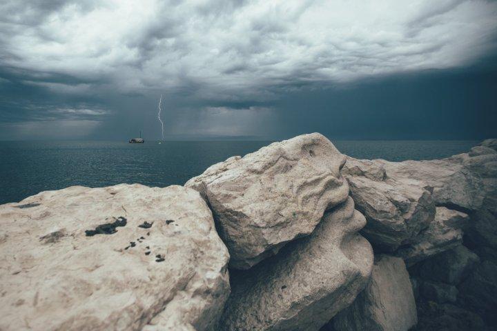 Gewitter über Piran