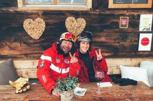 Unser Skilehrer kümmerte sich um die Rookies und sorgte ab Sek.1 für gute Laune