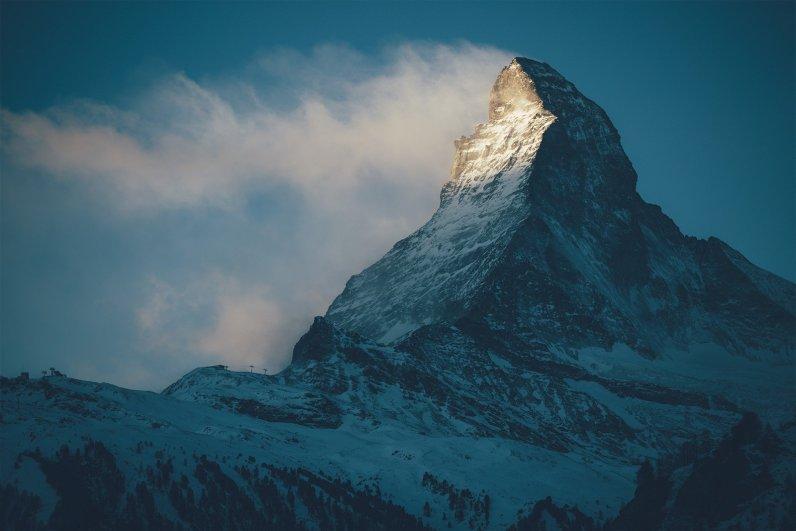 Matterhorn im Morgengrauen