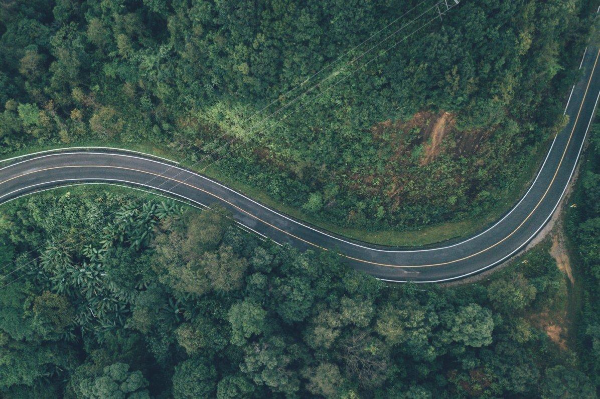 Straße S-Kurve Thailand