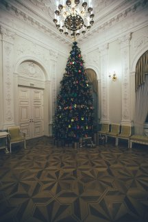 der Weihnachtsbaum Präsidenten Palast