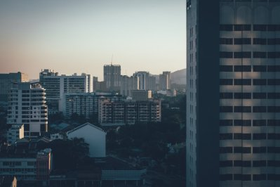 Wolkenkratzer prägen das Stadtbild der Gegenwart