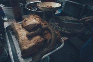 Street Food - Pork Ribs, Legs and Intestines
