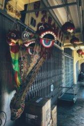 Klassische chinesische Drachen in einem der zahlreichen Shops