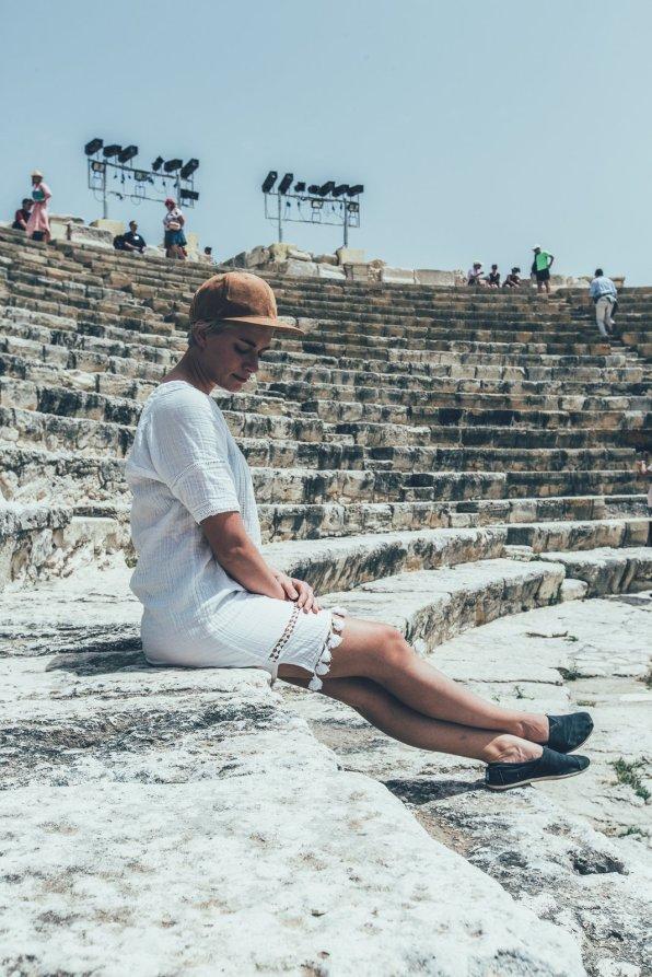 MIa im Amphitheater von Kourion
