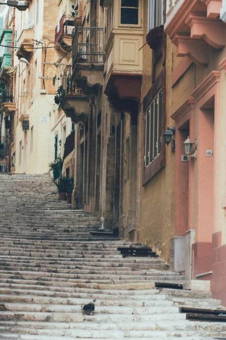 Treppen in Valletta