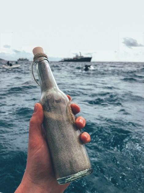 Ein Hinweis vom Meeresgrund