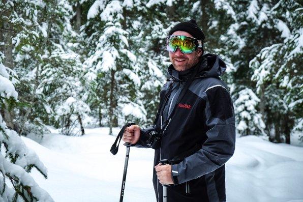 Thies beim Schneeschuhwandern