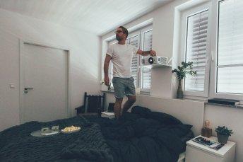 Heimkino im Schlafzimmer