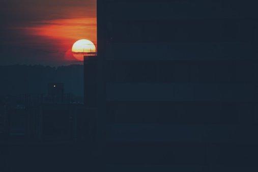 Sonnenuntergang aus dem Omni Hotel