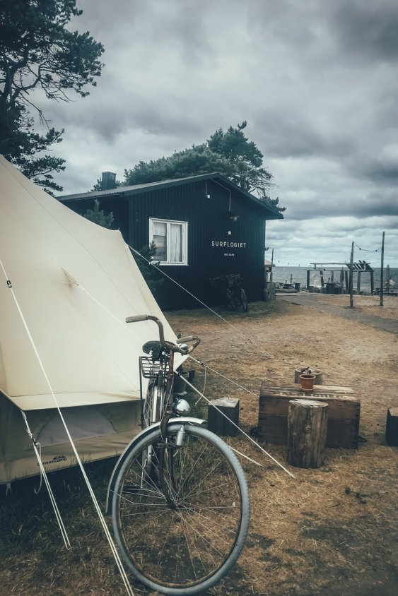 Glamping Zelt der Surflogiet Gotland