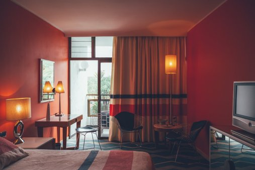Zimmer im Retro-Stil der 70er