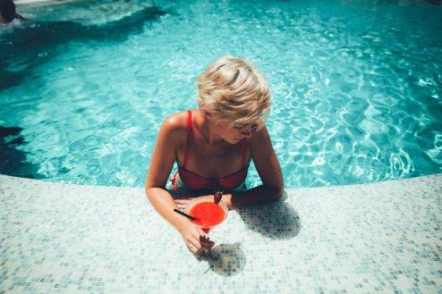 Leckere Cocktails schlürfen im Seaside Palm Beach