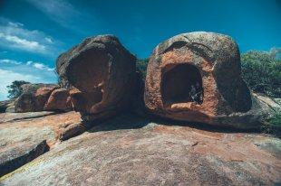 Thies mit Neon an der Sleepy Bay Tasmanien