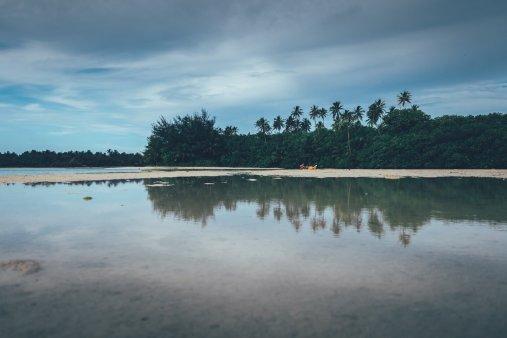 Ausblick von der Insel Motutapu
