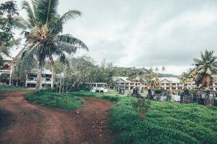 Bauruine eines Hotels auf Rarotonga