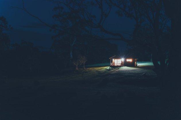 Curringa Farm bei Nacht