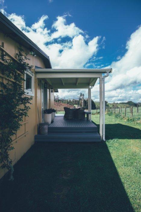 Unser Cottage von Außen, nahe Rotorua