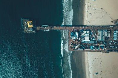 Santa Monica Peer - Drohnenfotografie
