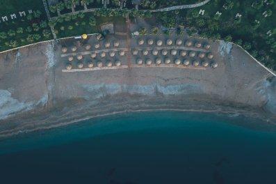 Der Strand des TUI BLUE Atlantica Imperial Resort von oben