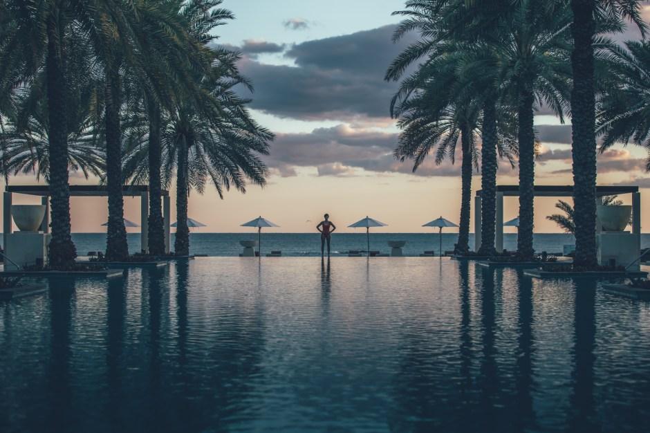 Ein Strandhotel in Maskat, das Al Bustan Palace