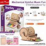 Mechanical Xylofun Music Fun Stem Educational Toy Diy Building Construction Activity Kit For Kids 8 Years Boys Girls