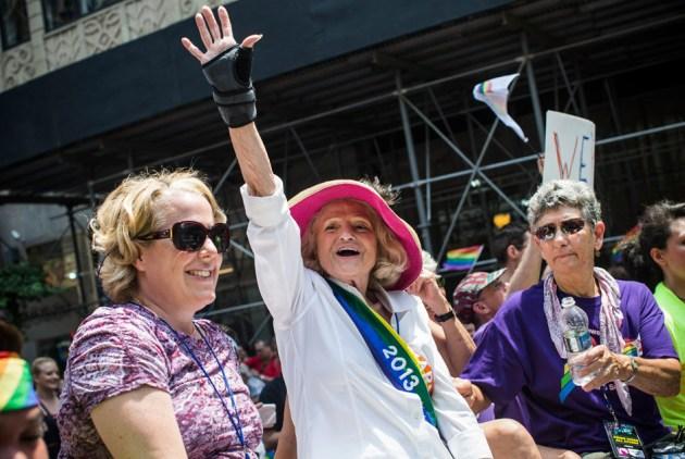 Еді Уіндзор, яка домоглася внесення змін до Закону про захист шлюбу, Нью-Йорк, США, 30 червня 2013 року. Фото: Andrew Burton / Getty Images / AFP
