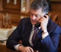 Порошенко провел телефонный разговор с Юнкером