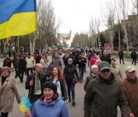 В Краматорске состоялось многотысячное шествие за единую Украину