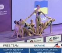 Украинские синхронистки завоевали «золото» и «серебро» на соревнованиях в Барселоне