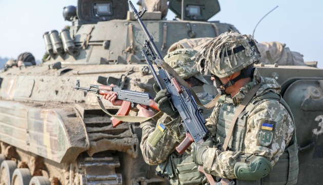 Okupanci strzelali z zabronionych moździerzy na pozycje SP w pobliżu Krymskiego