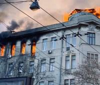 Пожар в одесском колледже: спасатели нашли тело женщины
