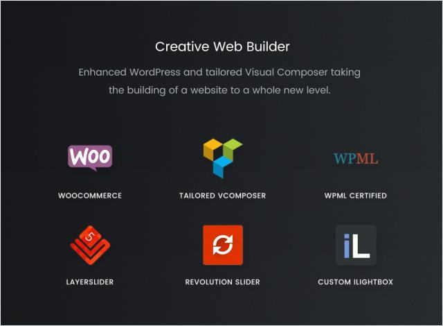 Visual Composer, WooCommerce, WPML ready