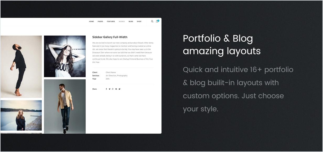 Portfolio e modelos de blog