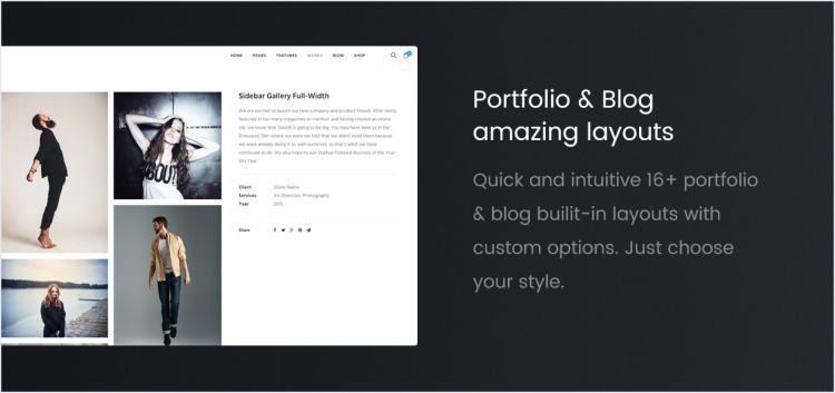 Portfolio and blog templates